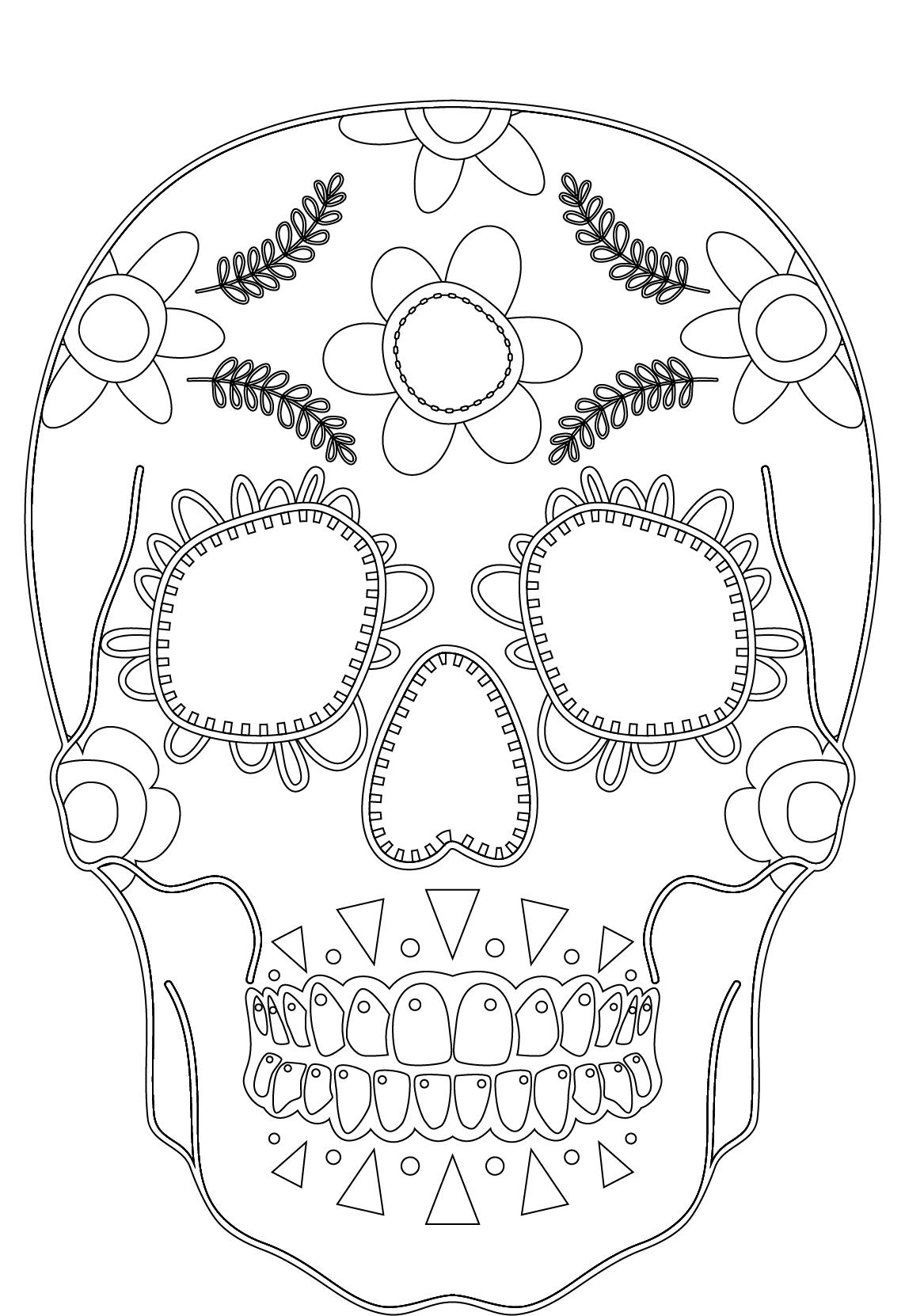 imprimer des coloriages makeup skull face artherapie artherapieca