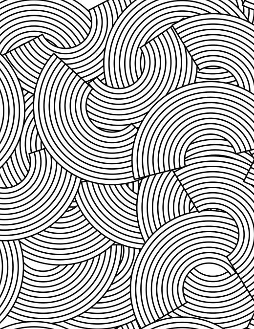 Coloriez ce pattern géométrique zendoodle très difficile