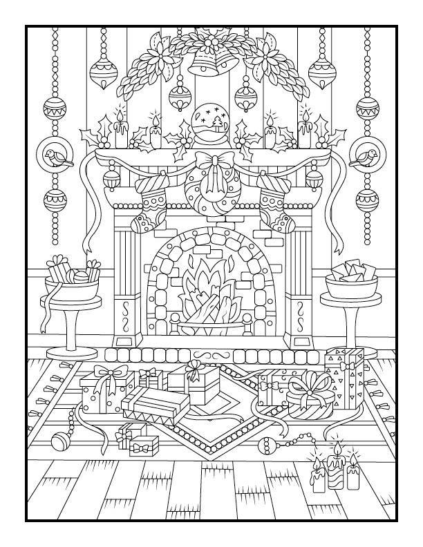 Pages de noel coloriage à imprimer par Jade Summer