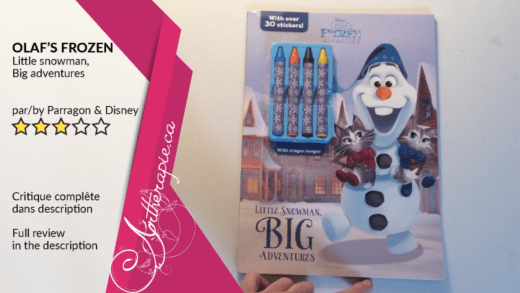Critique du livre Disney Olaf's Frozen adventure de Parragon