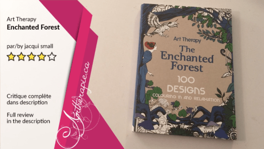 Critique du livre Art Therapy The Enchanted Forest 100 Designs