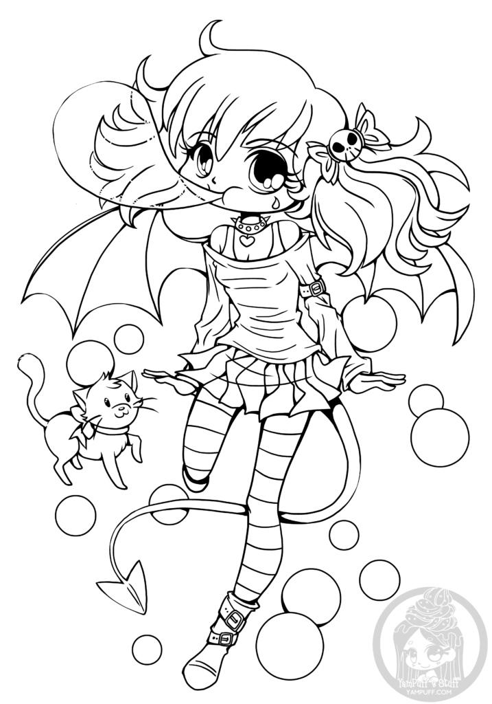 Dessin manga a imprimer bubblegum suka chibi par yampuff - Dessin de manga a colorier ...