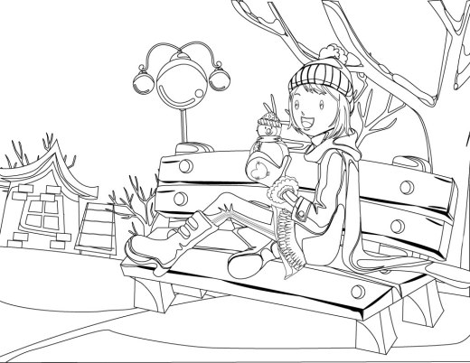Coloriage Fille Joie.Fille Archives Artherapie Ca