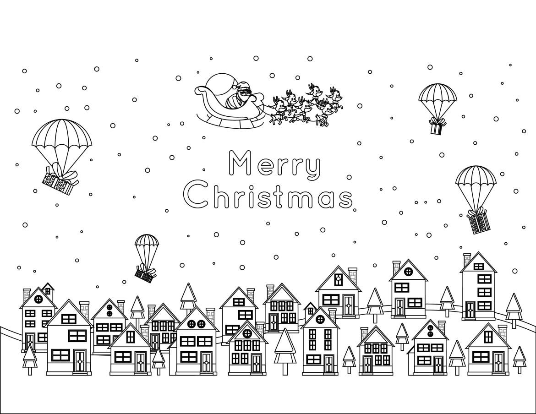 Joyeux Noel Image Pere Noel A Colorier Difficile Gratuit