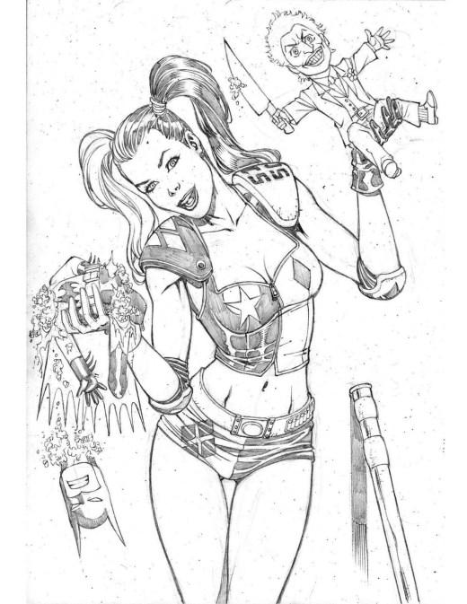 Harley Quinn personnage Batman DC Comic par Walter Geovani