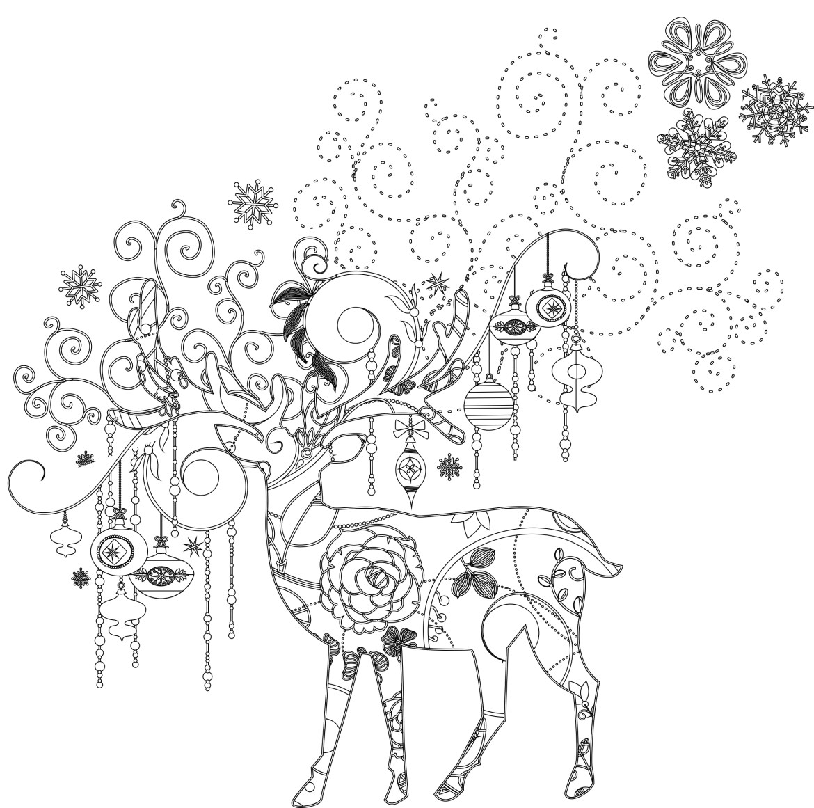Art th rapie animaux dessin a imprimer de noel gratuit - Coloriage therapie ...