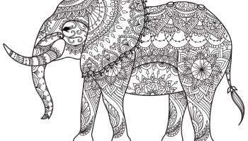 Coloriage A Imprimer Difficile Elephant.Tres Difficile Art Therapie Animaux Imprimer Affiches Artherapie Ca