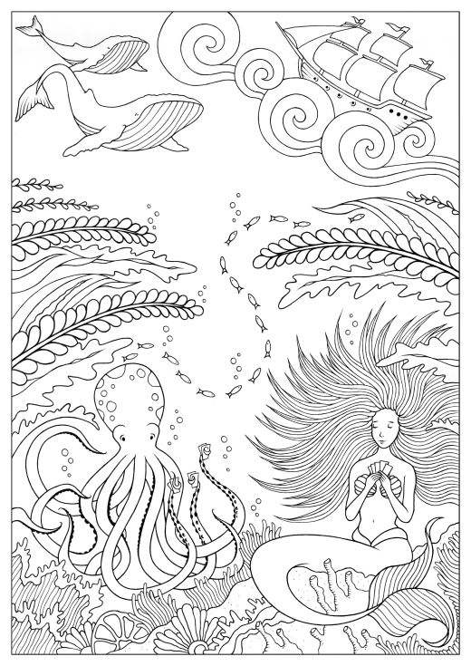 Coloriage pour adulte à imprimer par Konstantinos Liaramantzas