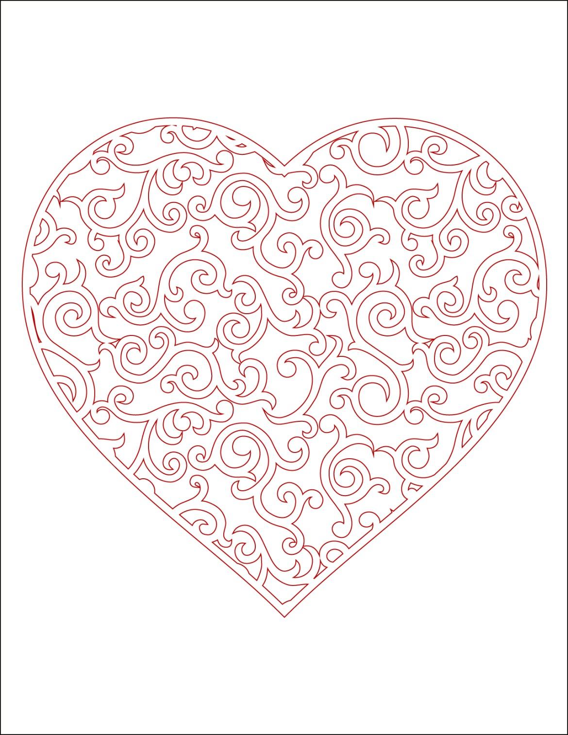 Coloriage De Coeur En Couleur.Coeur A Imprimer En Couleur Carte St Valentin Artherapie Ca