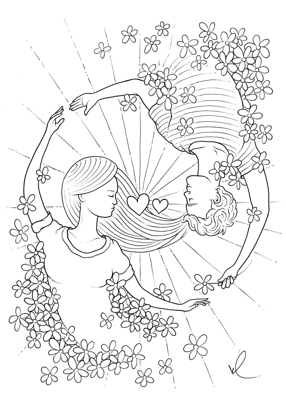 dessin pour la saint valentin par konstantinos liaramantzas. Black Bedroom Furniture Sets. Home Design Ideas