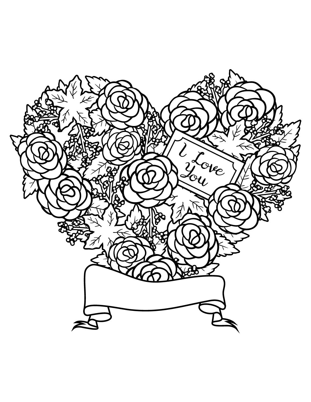 Images love amour page de dessin imprimer - Coeur a imprimer gratuitement ...