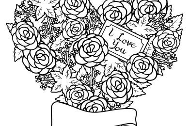 Images love amour page de dessin à imprimer