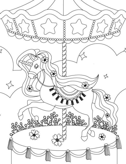 Carrousel my little pony coloring à imprimer et colorier