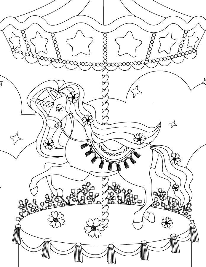 Carrousel my little pony coloring à imprimer et colorier