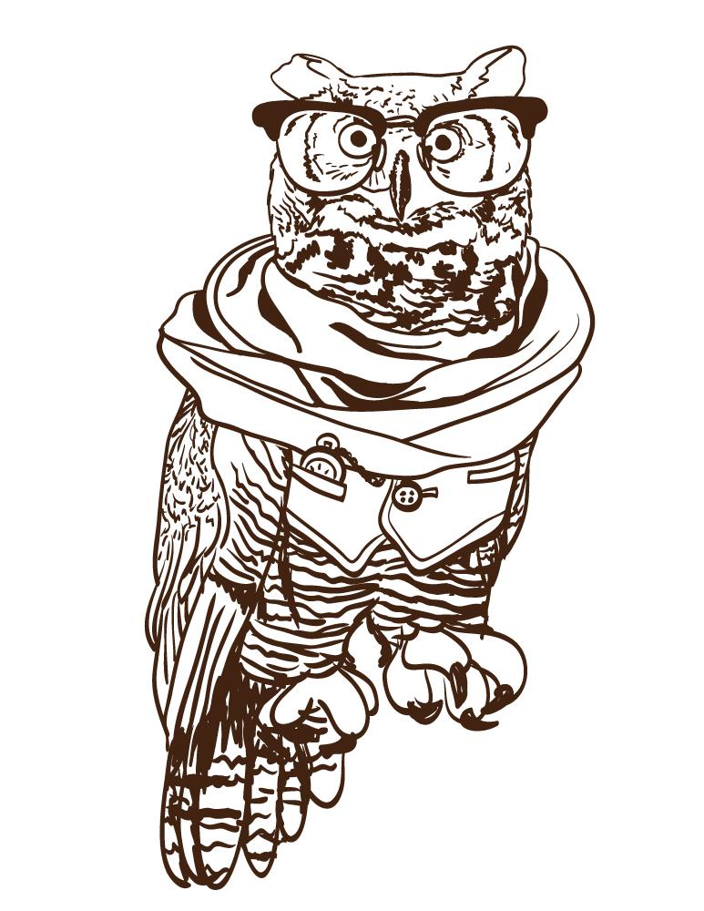 Dessin a imprimer gratuit hibou coloriage pour adulte