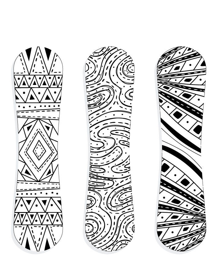 planche neige snowboarding sport hiver colorier. Black Bedroom Furniture Sets. Home Design Ideas