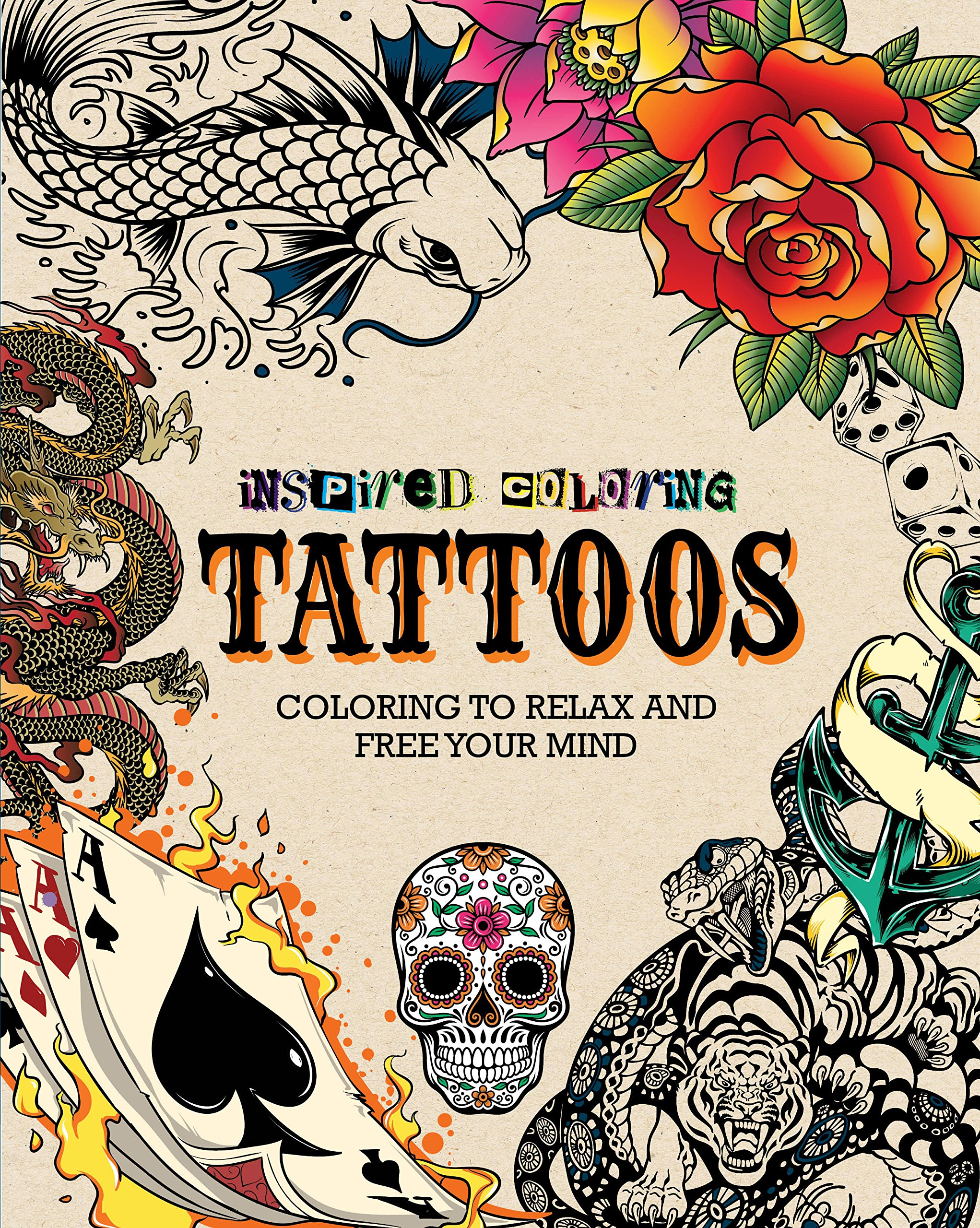Critique du livre inspired colouring Tattoo collection Parragon