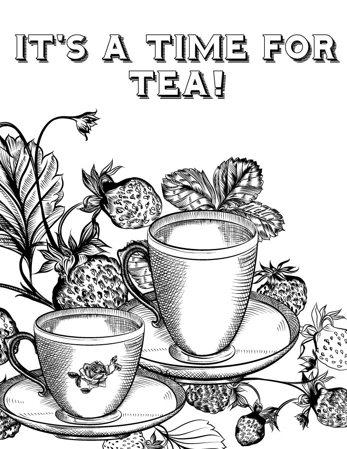 Time for tea site pour imprimer des coloriages gratuits