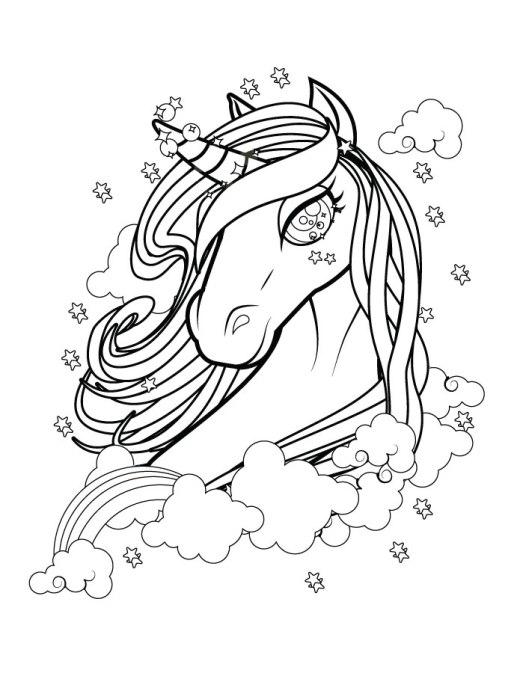 Belle licorne coloriage magnifique gratuit à imprimer