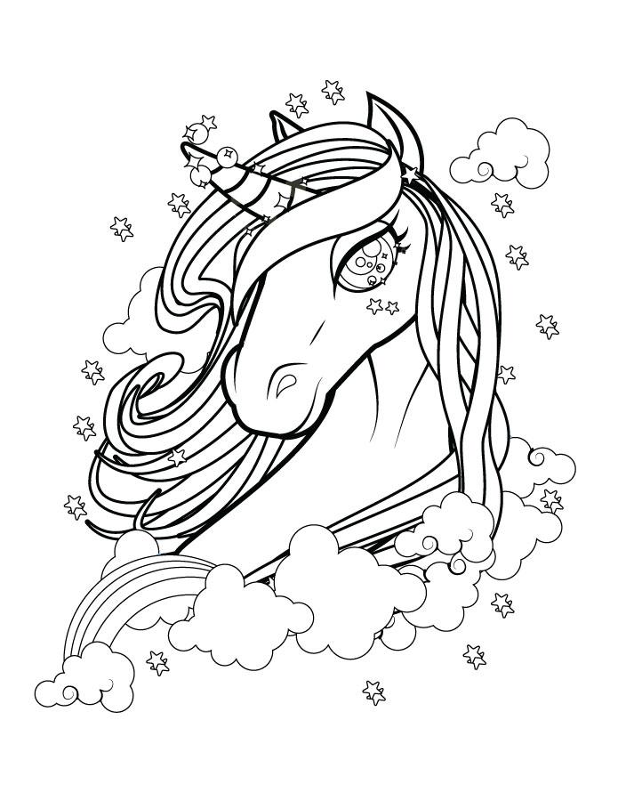 Belle licorne coloriage magnifique gratuit à imprimer - Artherapie.ca