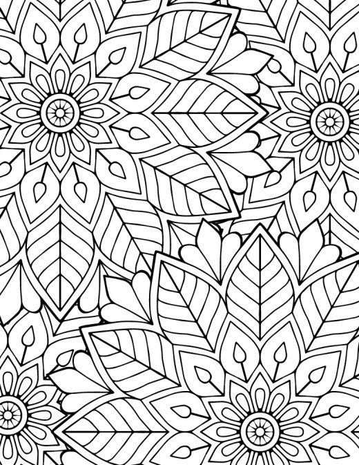 Image difficile coloriage mandala à imprimer gratuit