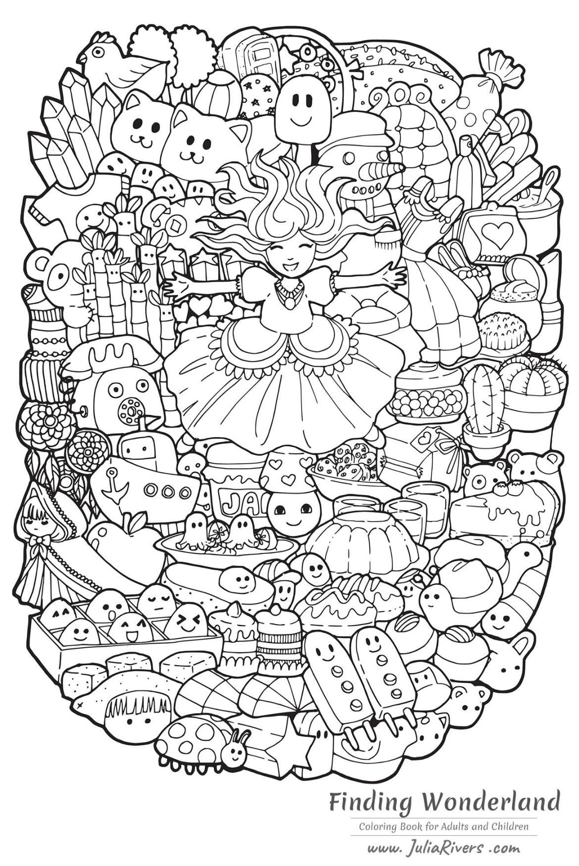 Page de Julia Rivers pour la sortie de Finding Wonderland