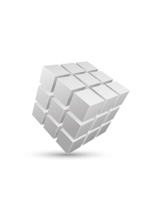Rubik cube jeux coloriage 3D pour adulte à imprimer