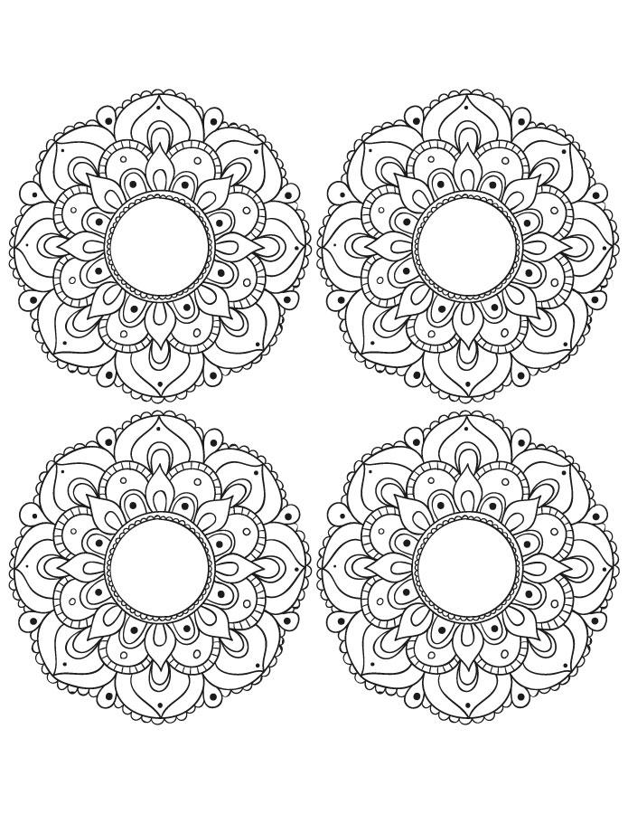Petits coloriage mandala à imprimer et dessiner gratuit