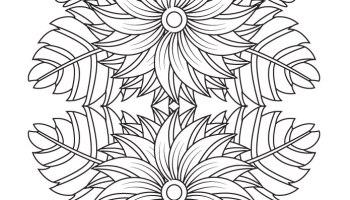 Coloriage Mandala A Imprimer Motif Fleurs Pour Adulte Artherapie Ca
