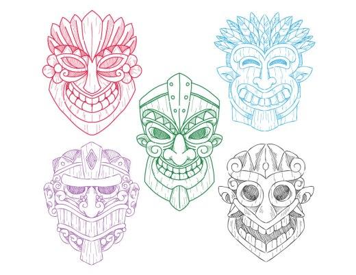Masque tiki coloriage pour adulte en ligne a imprimer