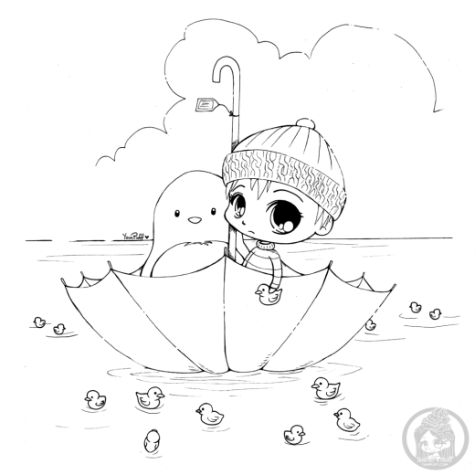 YamPuff présente coloriage enfant Lost and Found