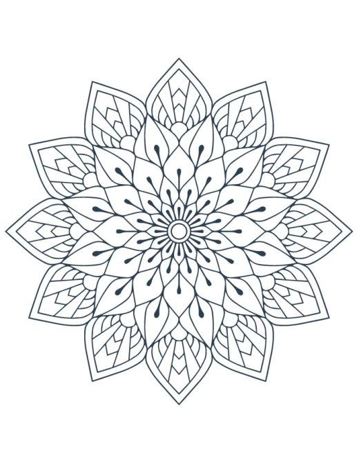 Coloriage mandala artherapie à imprimer gratuit