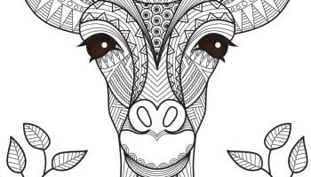 Coloriage Girafe Mandala.Coloriage Girafe Mandala Tattoo Animal A Imprimer