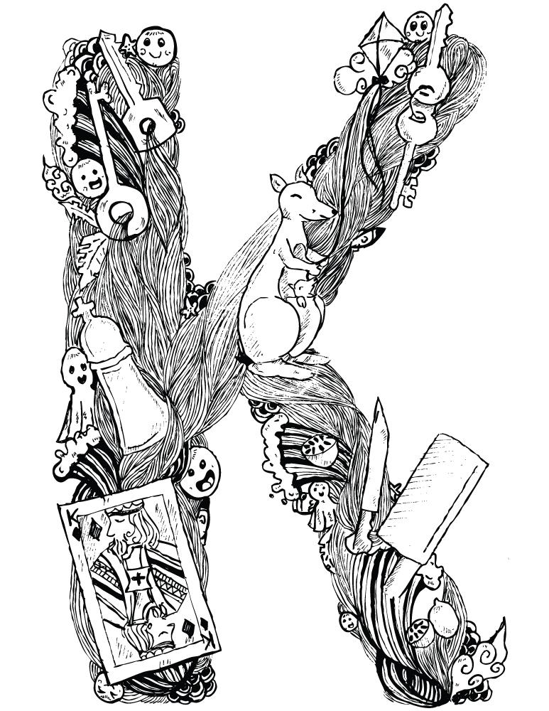 Alphabet coloriage en ligne gratuit à imprimer - Artherapie.ca