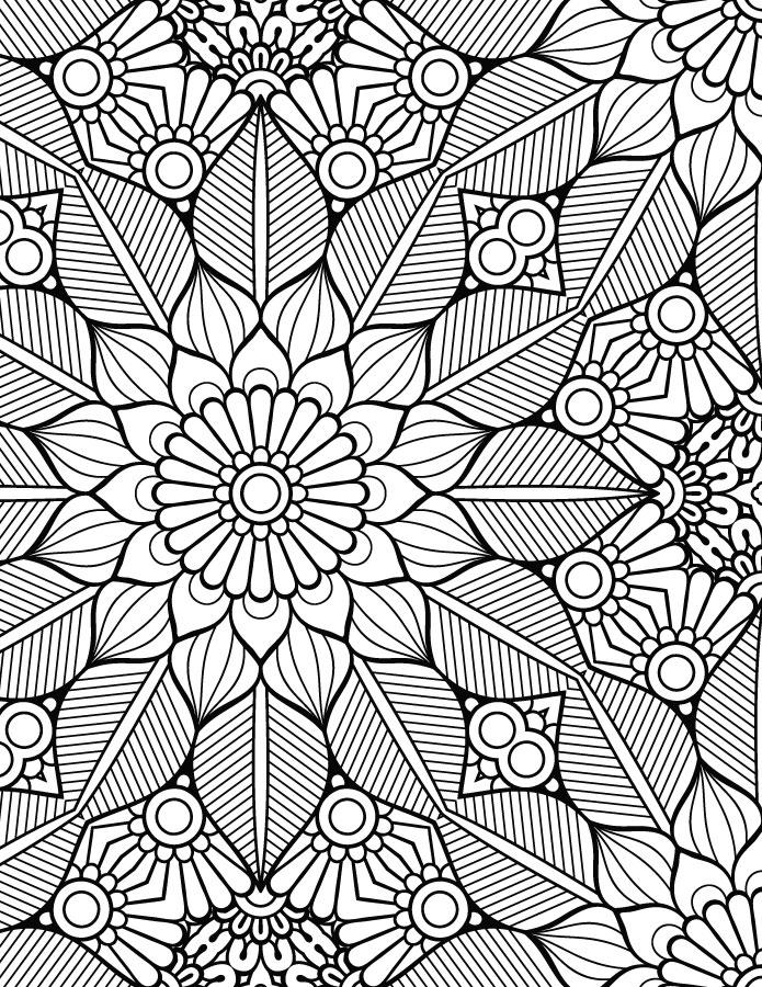 Coloriage mandala adulte artherapie pour imprimer