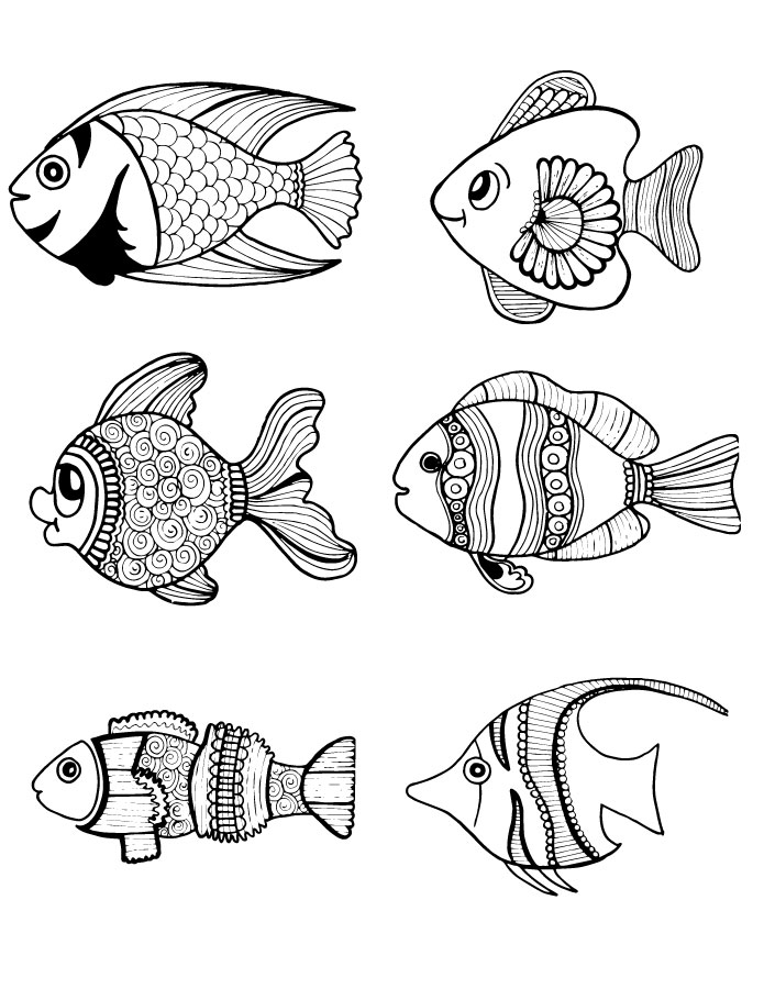 Coloriage Animaux Adulte.Page Artherapie Pour Adulte Coloriage Animaux Poisson Artherapie Ca