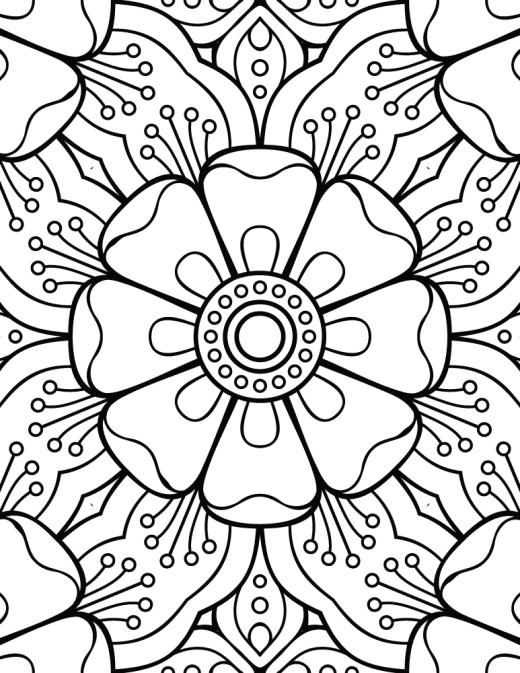 Mandala facile dessin a colorier pour enfant
