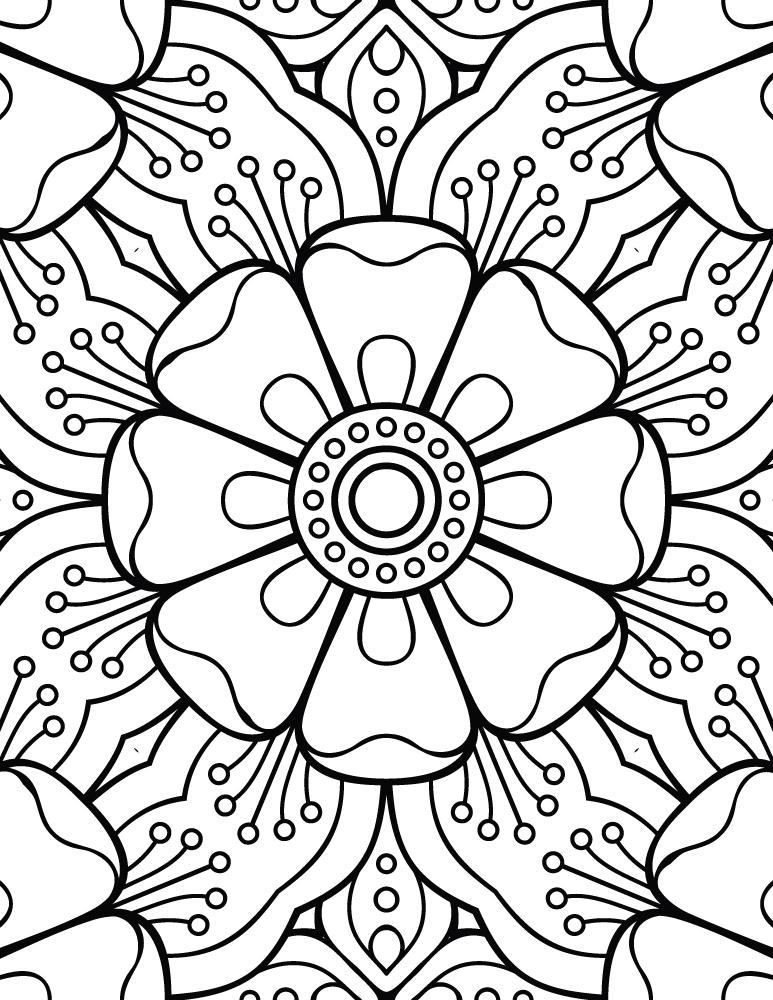 Mandala facile dessin a colorier pour enfant - Artherapie.ca