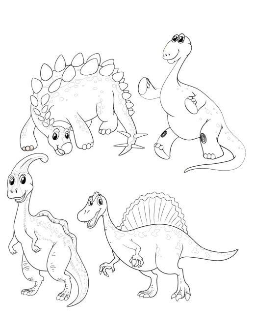 Adorable coloriage dinosaure solution gestion du stress