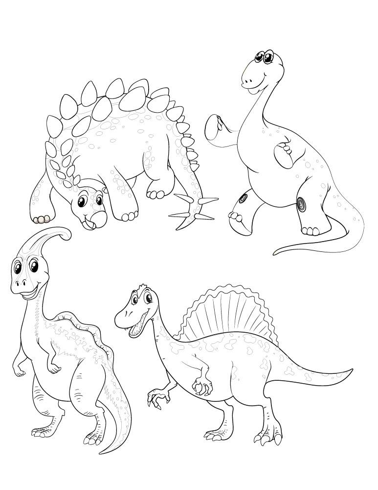 Adorable coloriage dinosaure solution gestion du stress