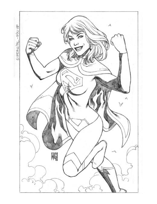 DC Entertainment Supergirl pinup par Walter Geovani