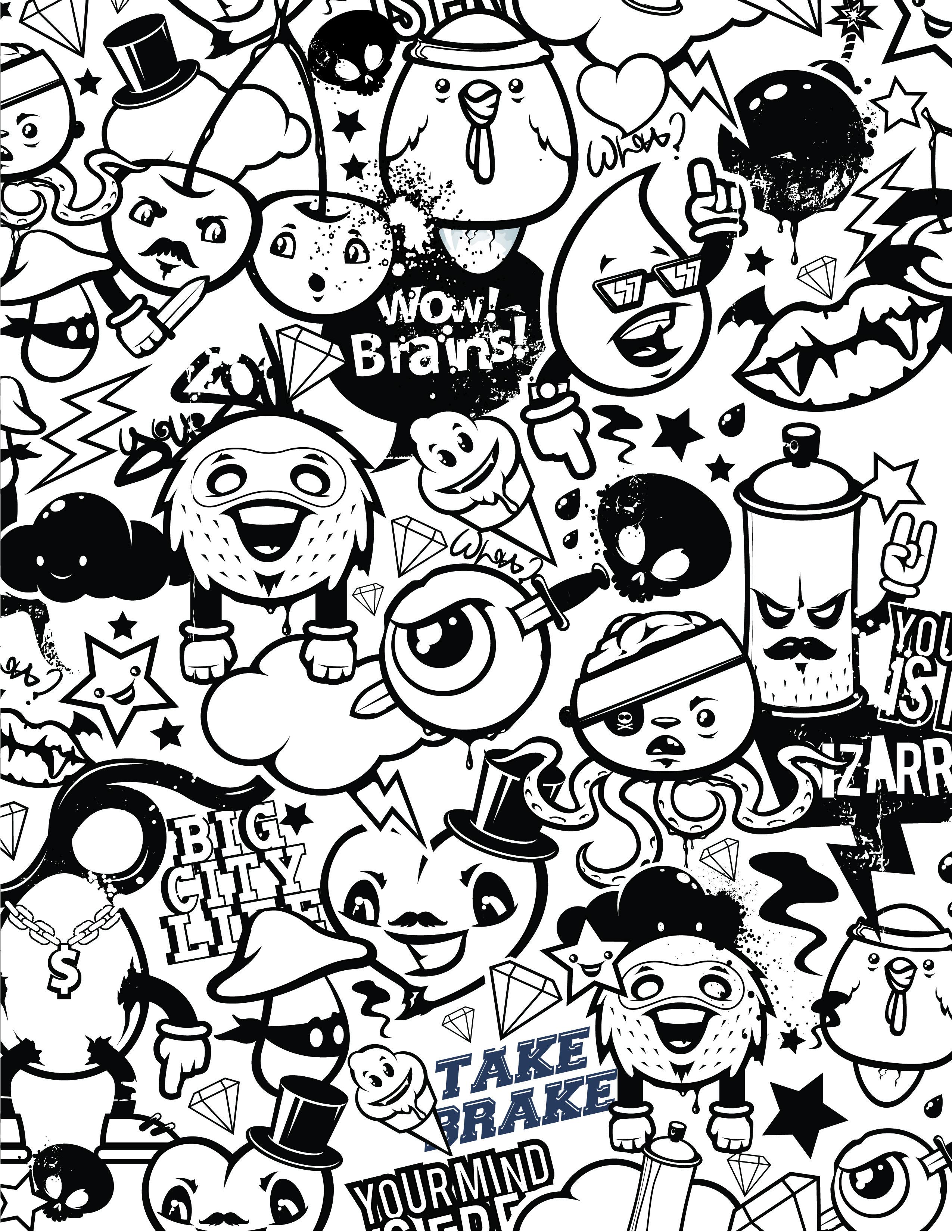 Coloriage Emoji Difficile.Graffiti Coloriage Emoji Gestion Du Stress A Dessiner Gratuit