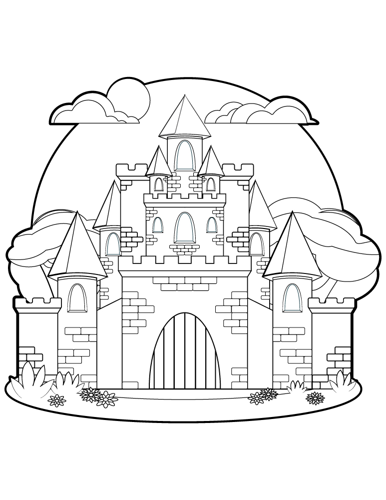 Chateau De Princesse Dessin Pour Coloriage Art Therapie Artherapie Ca