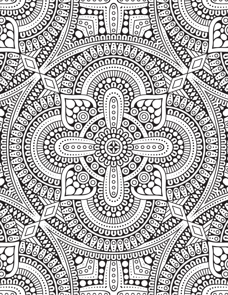 Complexe Mandala Designs Coloriage Gratuit à Imprimer
