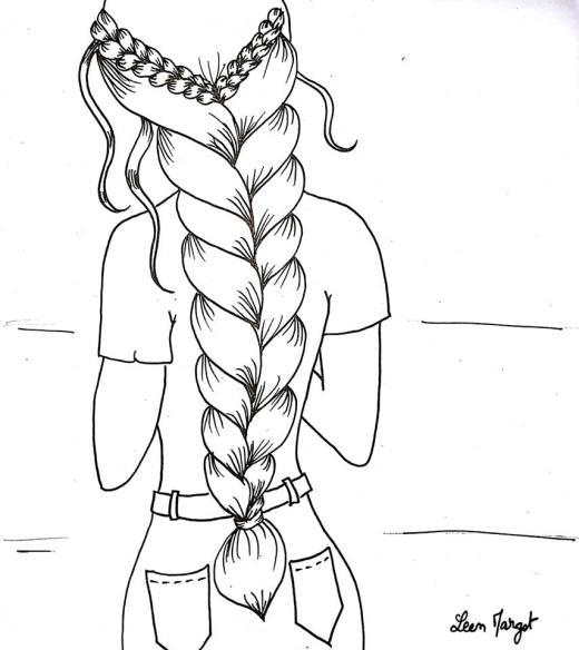 Longue tresse jeux de coloriage fille par Leen Margot