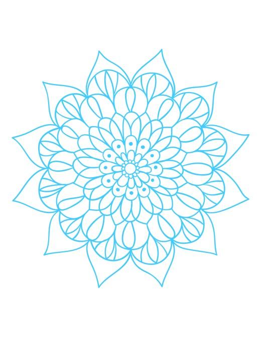Mandala dessin gratuit à imprimer anti stress coloring