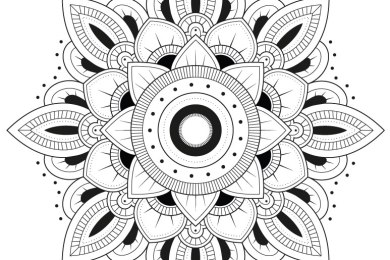 Coloriage de mandala unimage gratuite à imprimer