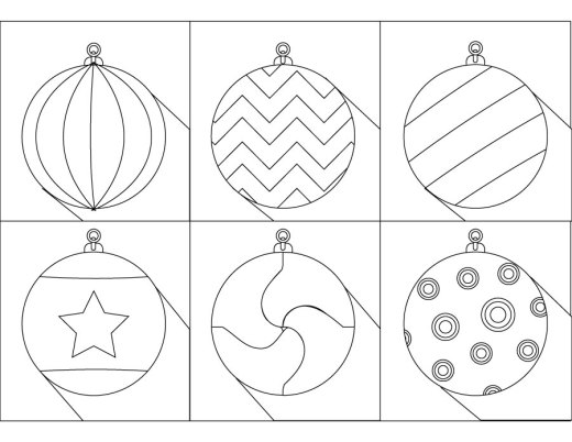 Boules de Noël dessin pour enfant à imprimer coloriage noël