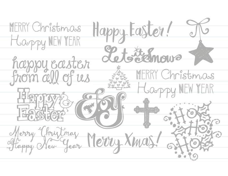 Calligraphie à reproduire page à imprimer Christmas