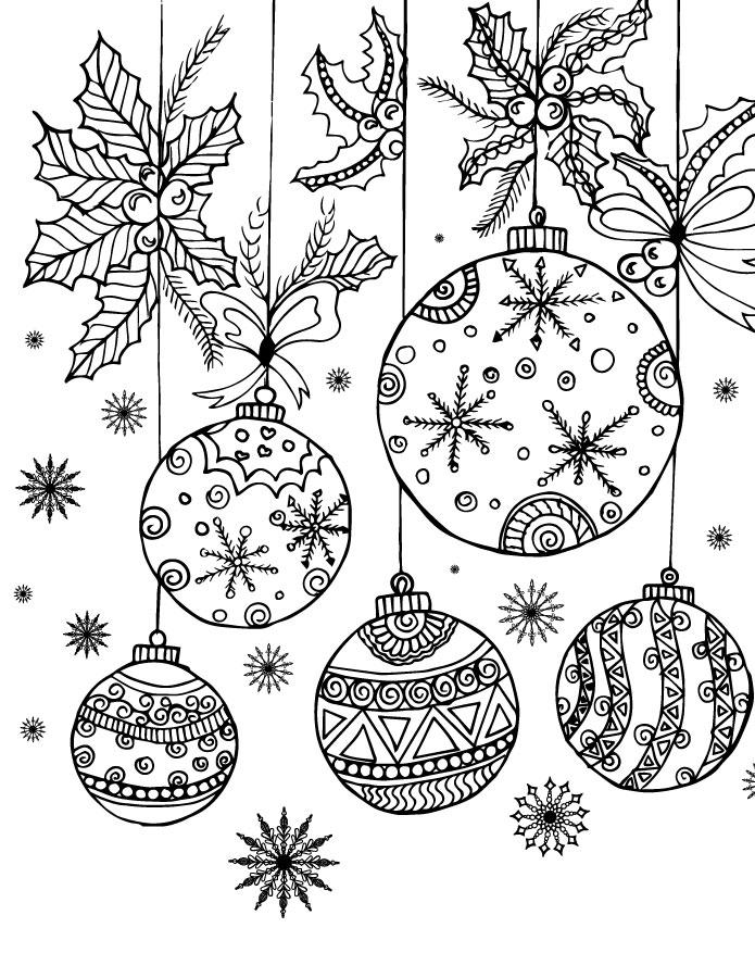Jeux De Coloriage Boules De Noel A Imprimer Artherapie Ca